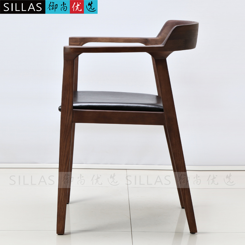 Modern wooden cafe chairs -  Nordic Wood Armchair Book Chair Conference Chair Leisure Chair Minimalist Modern Danish Furniture Ikea Cafe