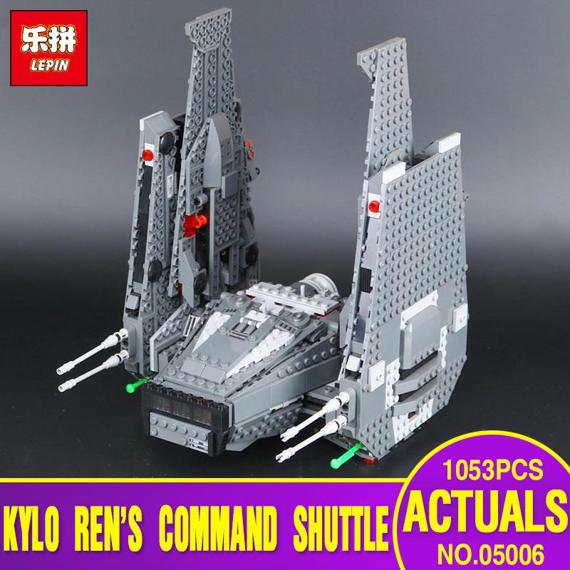 LEPIN 05006 Star Hot Sale Wars Kylo Ren Command Shuttle Educational Building Blocks Kid's Toy compatible Toys Legoing 75104 Gift star wars 75104 командный шаттл кайло рена