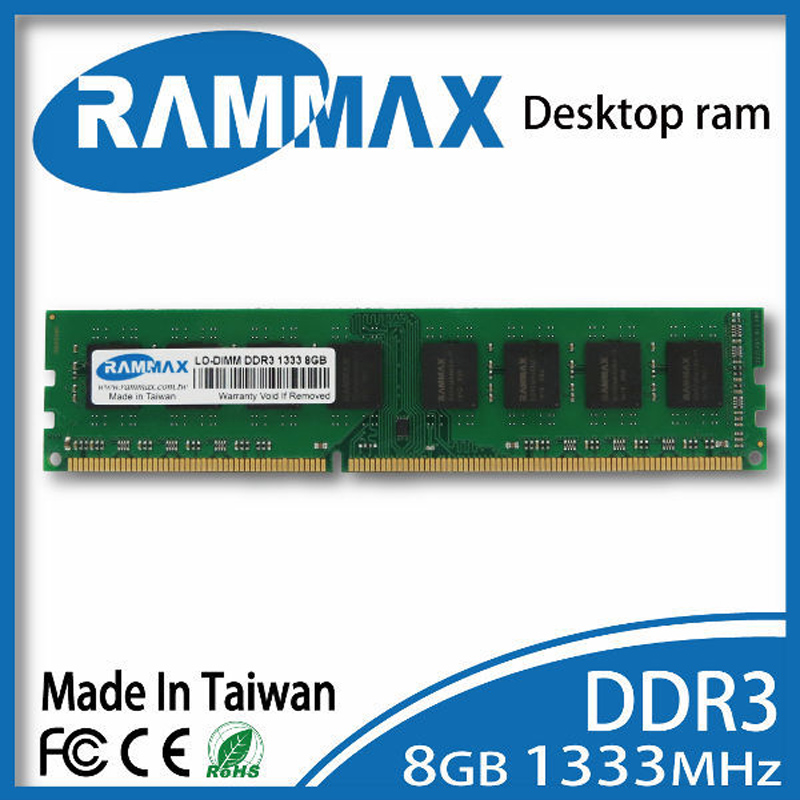 Brand new sealed Desktop DDR3 Ram 8GB LO-DIMM1333Mhz PC3-10600 Memory high compatible with all motherboards of PC Free Shipping