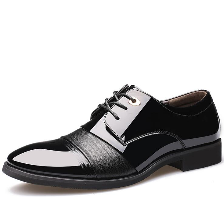 New Man Spring Winter Business Affairs Dress Leather Male Flats Wedding Formal Office Shoes 9952