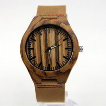 Fashion Zebra Wooden Wristwatch Men Wood Dress Watches Environment-friendly Natural Wood Quartz Bracelet Clock With Gift Box