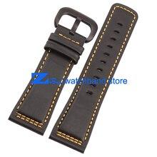28 мм высокое качество оригинальные кожаные браслеты ремешок для часов гладкий черный с бежевым сшитые ремешок для sevenfriday просмотрам