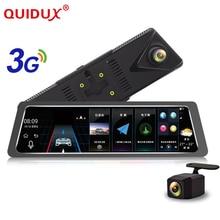 QUIDUX 10 inch 3G Car Dvr Camera GPS Navigator Android Rearview Mirror Full HD 1080P Video Recorder Bluetooth Dual Lens Dashcam