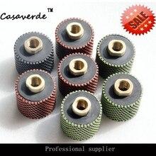 DC-RDPP02 M14 или 5/8-11 резьба 2 дюйма(50 мм) Алмазный Резиновый барабан полировочные колеса для полировки гранита и мраморного камня