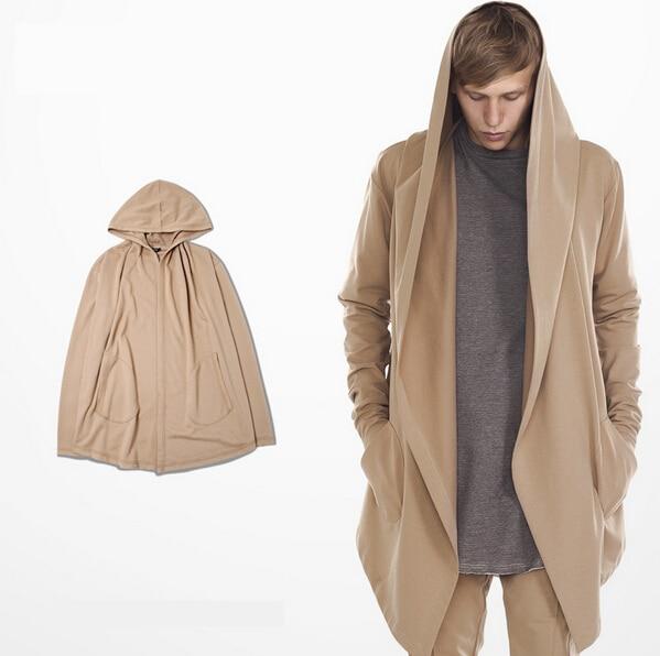 Cool Long Men S Sweatshirt Hoo Hood Cardigan Mantissas Black 1181481f8