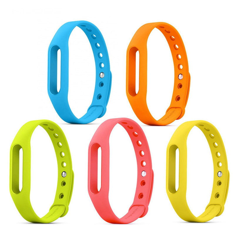 free ship Xiaomi Mi band 1&1S &Xiaomi mi 1 Wristband Silicon Strap For Smart Bracelet Accessories Replaceable Band
