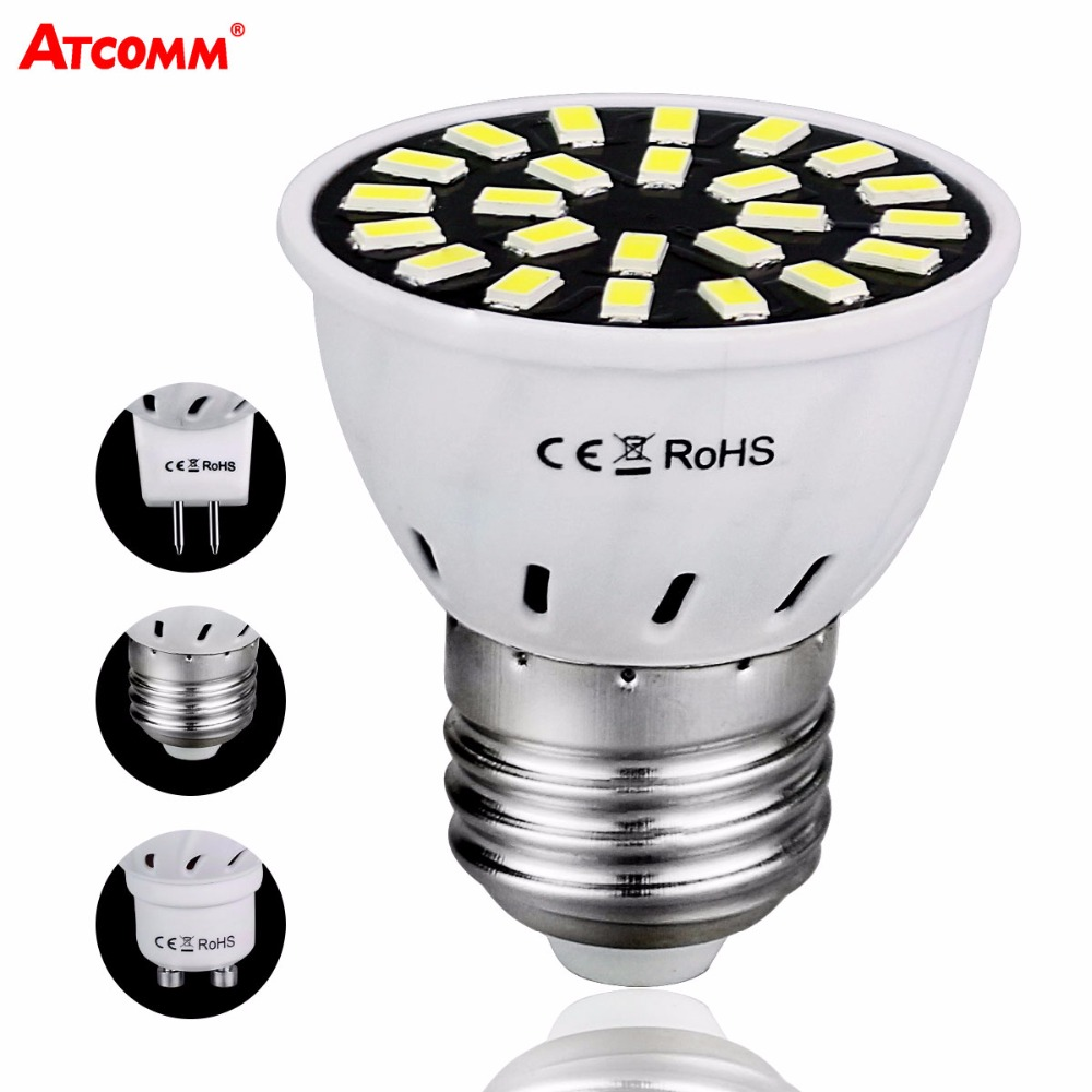 Self-Conscious Gu10 Led Bombilla Diode Bulbs E27 Mr16 110v 220v 4w 6w 8w Smd 5733 Chip 18 24 32 Leds Spotlight Lamp No Flicker Energy Saving Agreeable To Taste Led Bulbs & Tubes