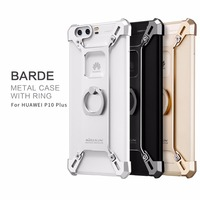 For Huawei P10 Plus Nillkin Barde Metal Cover Case With Ring Luxury Space Aluminium Metal Cases