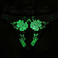 New style Fluorescence Sex Open Crotch Lace G-string T-back Briefs Underpants Lingerie Erotic Lingerie Hot Sexy T-back Tangas