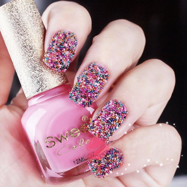 Makartt 12 Colors Tiny Circle Bead Decoration 3d Nail Art Be Caviar Bottle Set