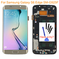 De oro para samsung galaxy s6 edge sm-g925f pantalla lcd táctil digitalizador asamblea + frame bezel + herramientas parts envío libre