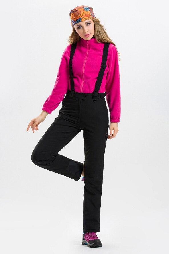 Pantalon de Ski chaud imperméable à l'eau 2018 pantalon de Sports de plein air d'hiver pantalon de Ski coloré de haute qualité pantalon de Snowboard solide de grande taille - 5