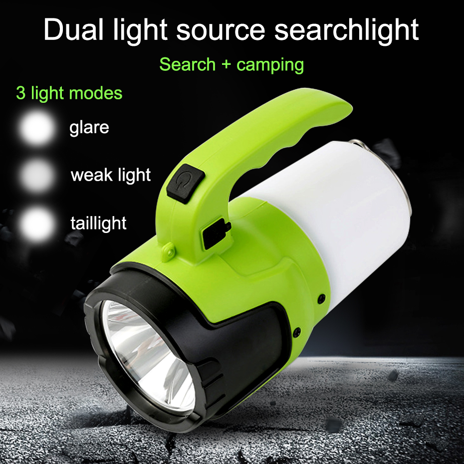Rechargeable LED Flashlight Torch USB Portable Spotlight 10w Searchlight Camp Built-in 4000mAh Lithium Battery Long Working TimeRechargeable LED Flashlight Torch USB Portable Spotlight 10w Searchlight Camp Built-in 4000mAh Lithium Battery Long Working Time