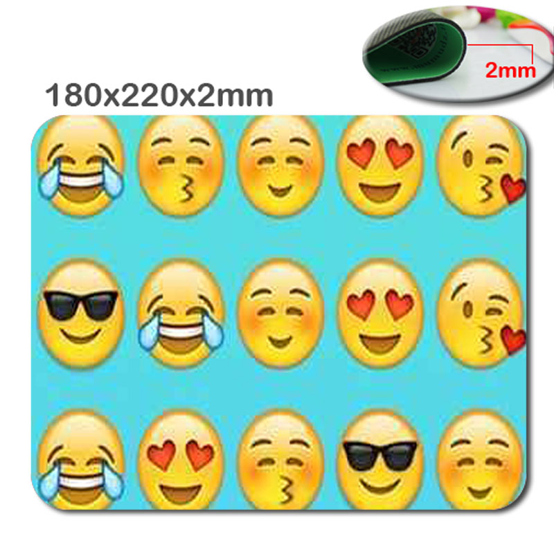 Emojis Mouse Mat Customized original, stylish trendy fashion,peacock feathers Rectangle Non-Slip Rubber Mousepad Gaming Mouse...