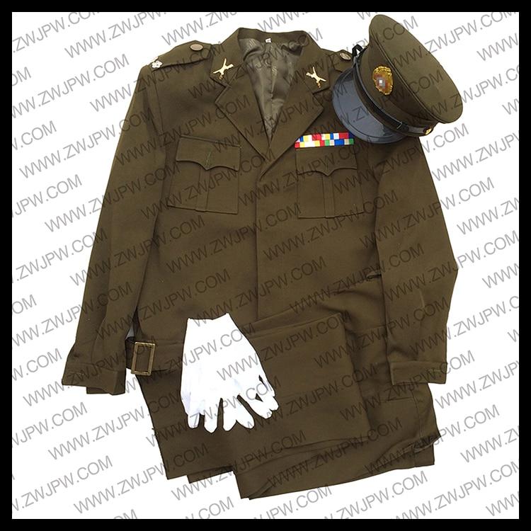WW2 CHINESE NATIONALIST PARTY KMT GENERALS COMBAT UNIFORM SET ARMY CAP JACKET zimbabwean nationalist government