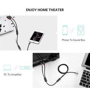 Кабель RCA Ugreen с разъемом 3,5 мм для разъема типа «Папа-мама», кабель Aux для iPhone, домашнего кинотеатра, DVD, VCD, наушников