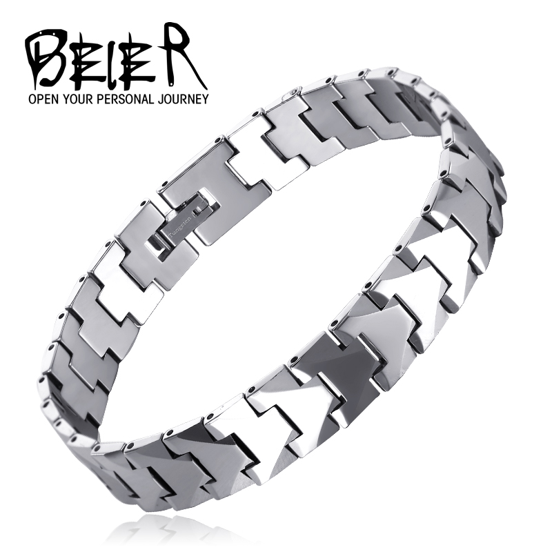 BEIER Fashion Tungsten Carbide Bracelets Cool Steel Energy Balance Health Care for man women lover Jewelry GIftBC-W003 fashion 2 size pure tungsten steel hematite couple bracelets bangles for women jewelry mens silver color bracelets for lover s