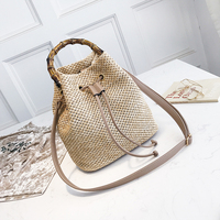 2018 Straw Crossbody Bags For Women Summer Small Bucket Bag Female Shoulder Bag Straw Sac A