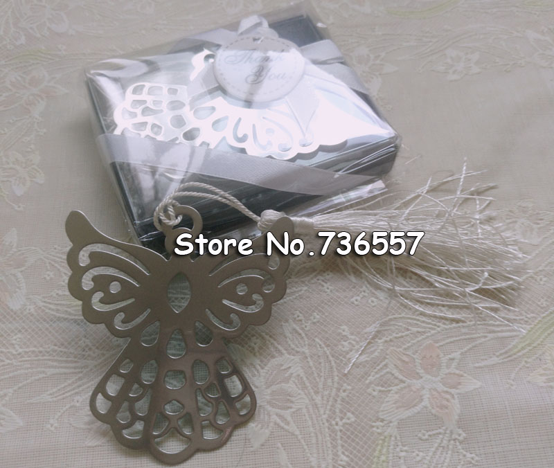New Lovely Exquisite Wedding Gifts Angel Monolithic Metal Bookmark With Tassel/ Iron Bookmark For Student's Favor,Wholesale MB04
