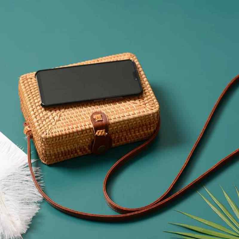 2019 sacos de palha redonda círculo bohemia bolsa bali caixa das mulheres verão rattan saco feito à mão tecido praia cruz corpo saco ca16
