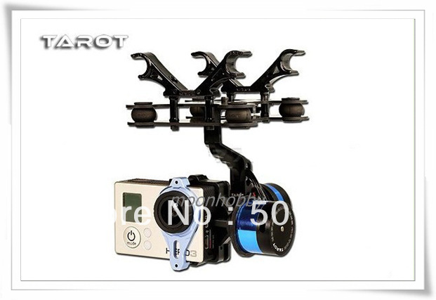 Tarot TL68A08 Gopro Brushless Camera Mount Rack Assembly Tarot T-2D Free Shipping tarot t 2d brushless gimbal camera ptz mount fpv rack tl68a08 for gopro hero 3 rc multicopter drone aerial photography f09990 page 9 page 7
