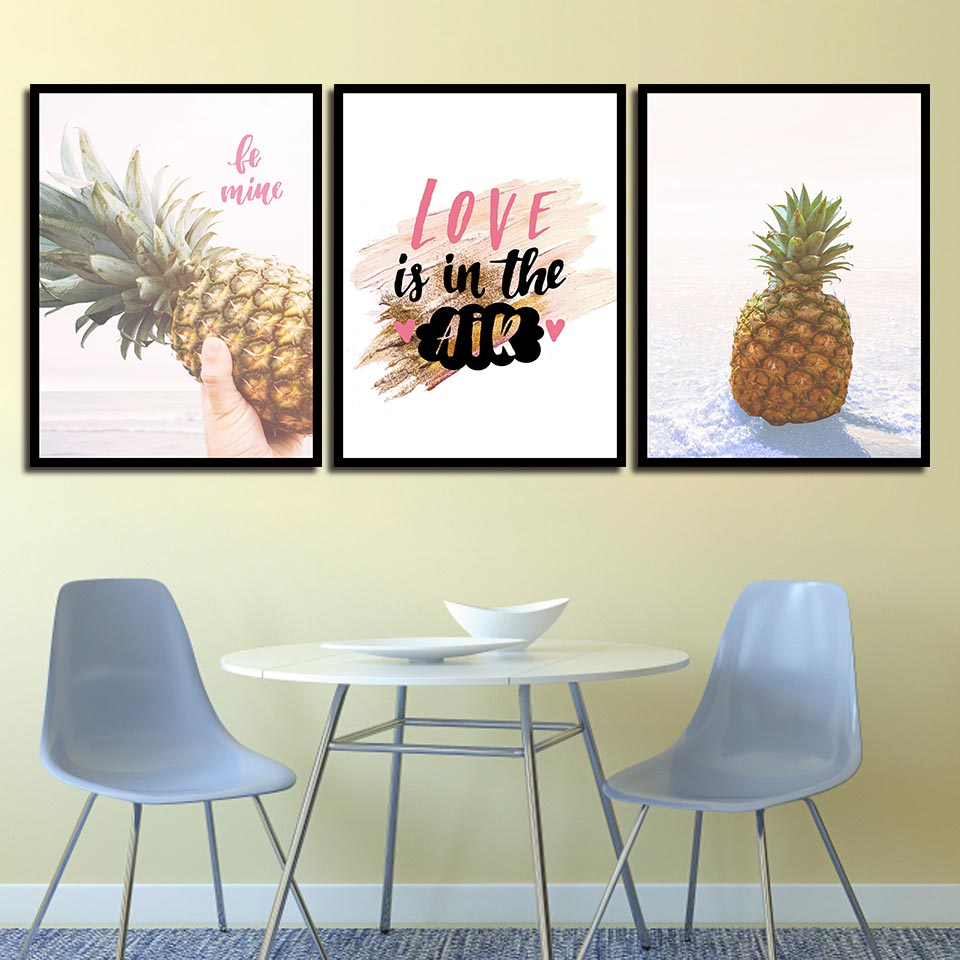 Pleasing Us 1 93 40 Off Nordic Posters Nursery Hd Prints For Baby Room Pineapple Fruit Wall Artwork Canvas Painting Picture Kids Bedroom Decoration In Creativecarmelina Interior Chair Design Creativecarmelinacom