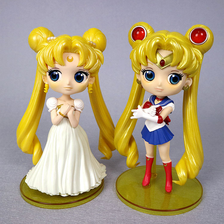 Crazy Q posket series Sailor Moon eyed adorable Princess Tsukino Usagi hand model doll ornaments animation toys gift ornaments