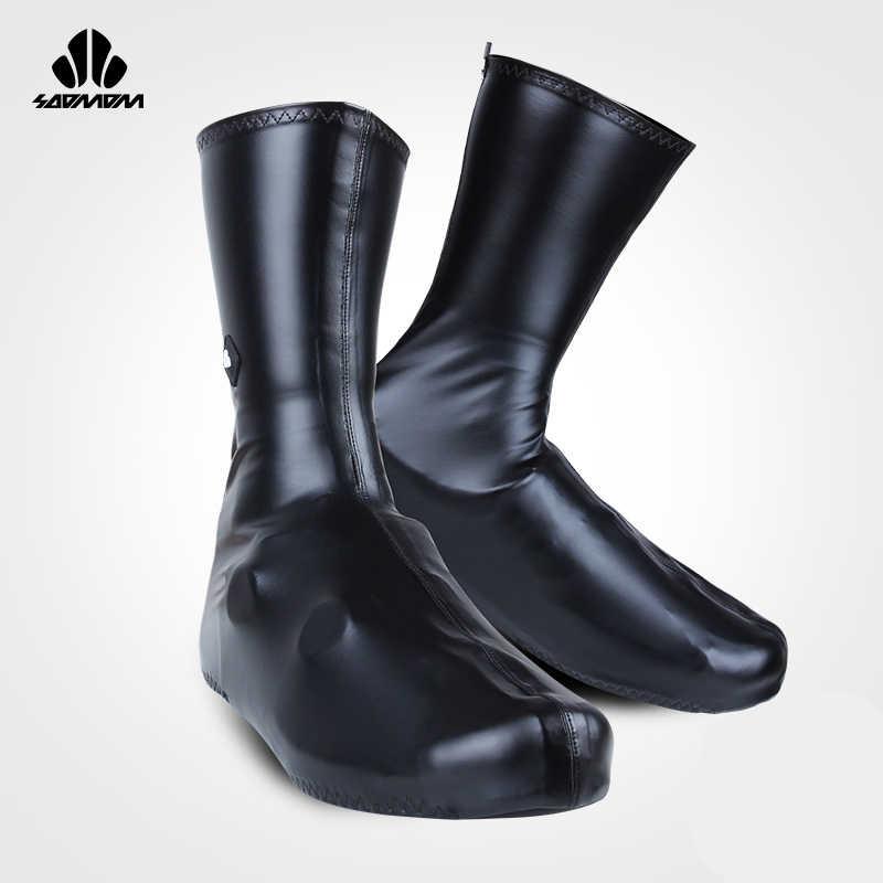 SOOMOM غطاء أحذية من النيوبرين مقاوم للماء غطاء أحذية ركوب الدراجات أحذية ركوب الدراجات الجبلية غطاء أحذية احترافي سحاب مقاوم للرياح
