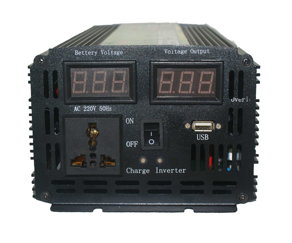 Free Shipping dc12v to ac220v inversor 1.5kw Automatic switch <font><b>Inverter</b></font> <font><b>3000W</b></font> with charger Taiwan model image