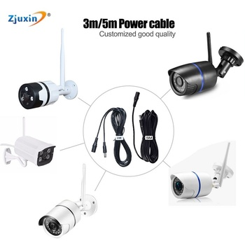 Zjuxin 3M/5M/10M Extension Power Cable For IP Wifi Cam 10ft 16ft 32ft  Extension Cable For 12v 2v Power Supply AC/DC Adapter