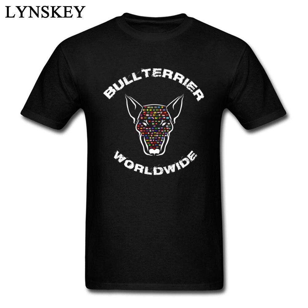 Unique 2017 New Bullterrier Worldwide Flags Print Men Tee Shirt Pure Cotton T-shirt O Neck Short Sleeve Tops ...