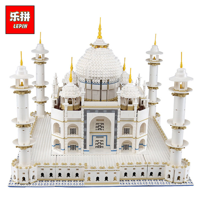 New LEPIN 17001 17008 6633Pcs The Tai Mahal Model Compatible 10189 Building Kits Brick Blocks Children Educational Funny Toys new lepin 15003 2859pcs the topwn hall model building blocks kid toys kits compatible with 10224 educational children day gift