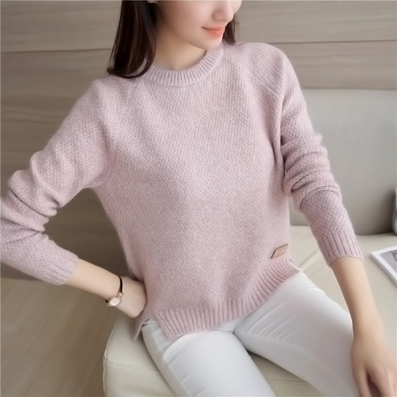 Danjeaner Korean Style Autumn Winter Women Sweaters and Pullovers Femlae Long Sleeve Solid Casual Sweater Women Slim Tops jumper