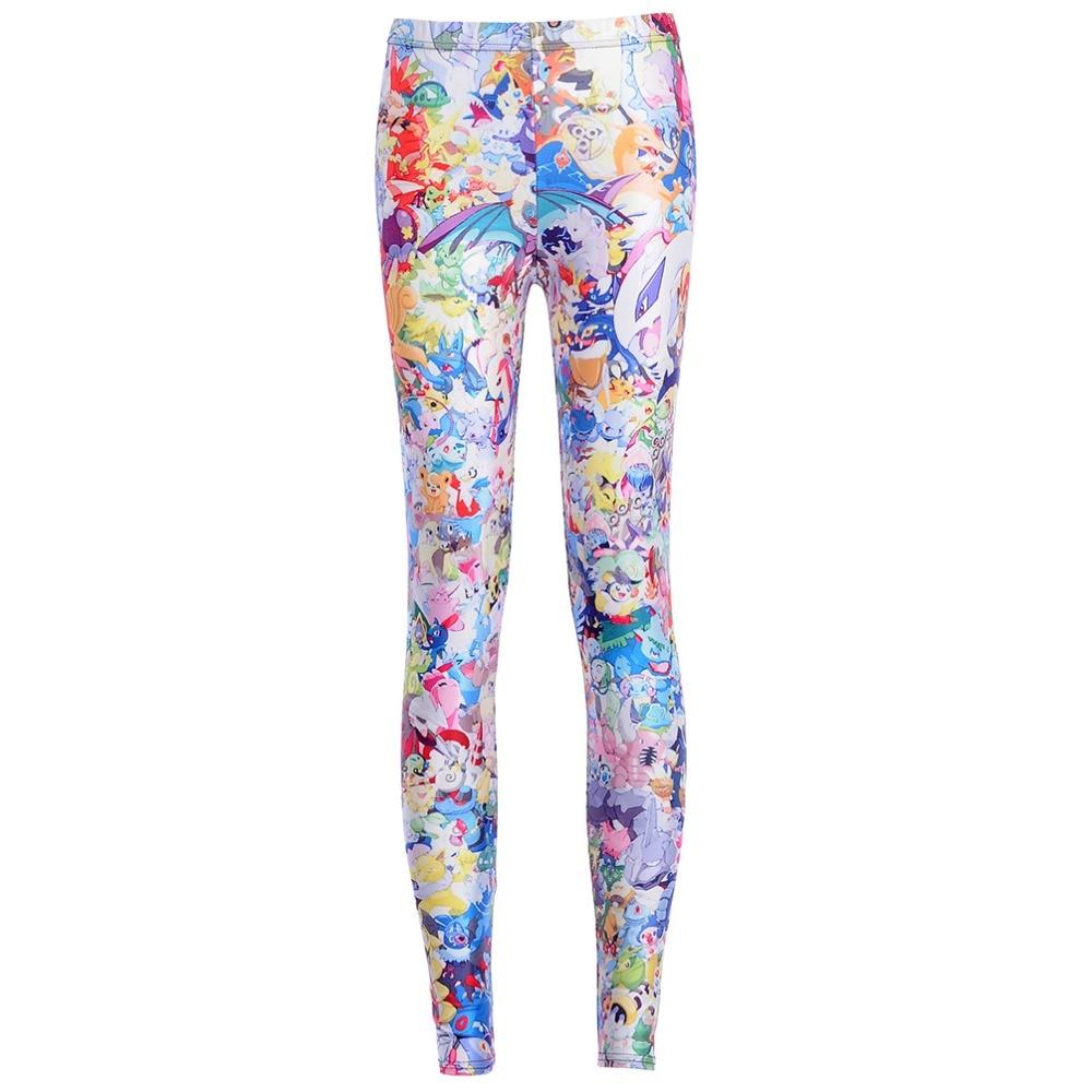 New Arrival Galaxy Print Cartoon Pokemon Leggings Women Digital Printing Beautiful Animal Trousers Fitness Pants Drop Shipping