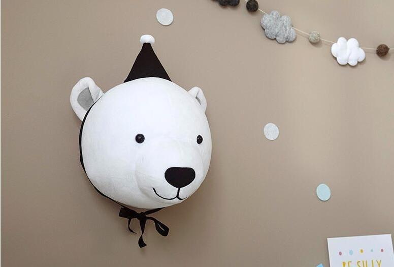 bear head wall decor