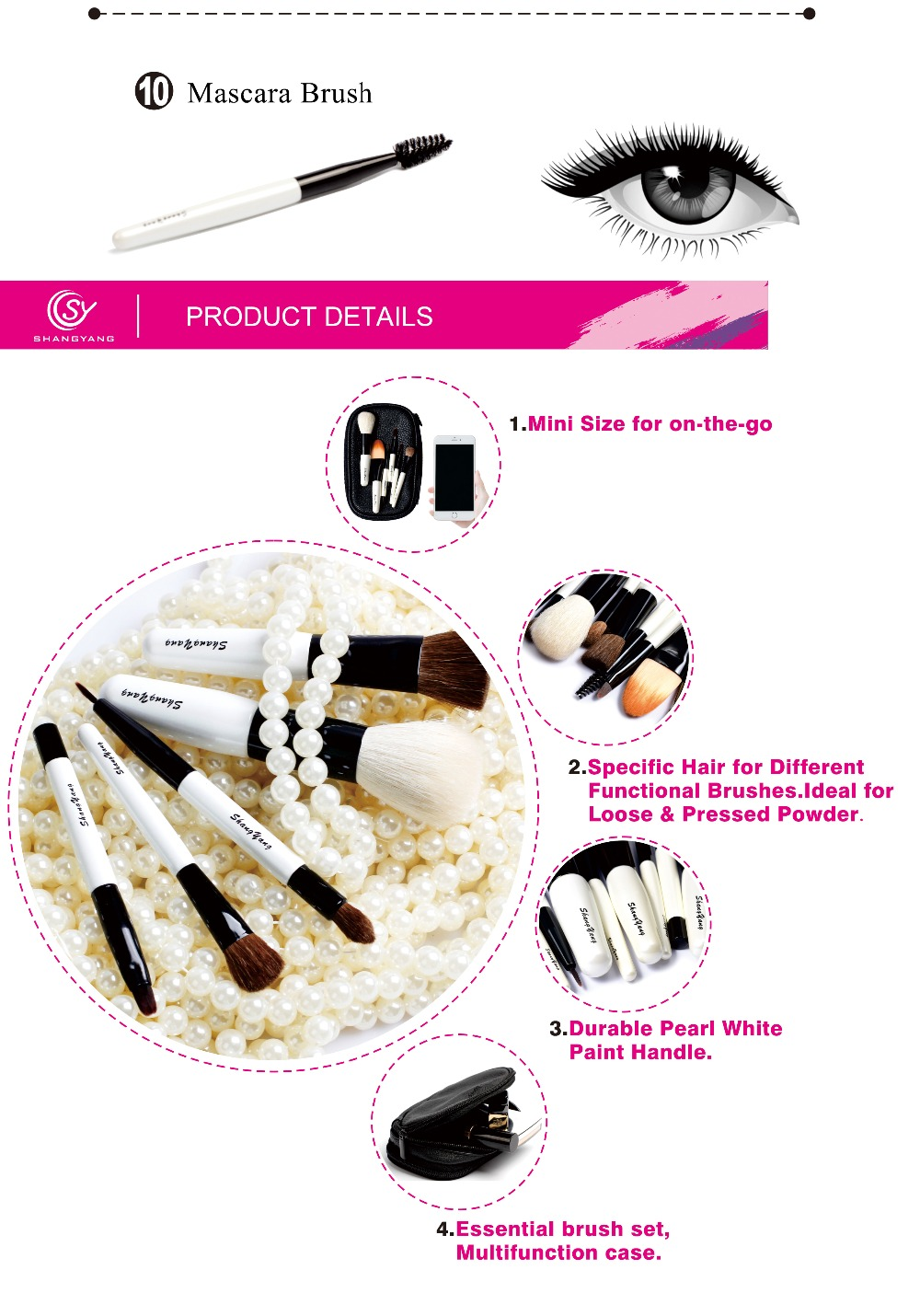 BM Professional Mini Size Makeup Brush Set For Cosmetic