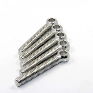 10 шт./лот DIN444 болт для глаз из нержавеющей стали шарнирный винт шарнирный якорь M5 M6 * 20/25/30/35/40/50/60