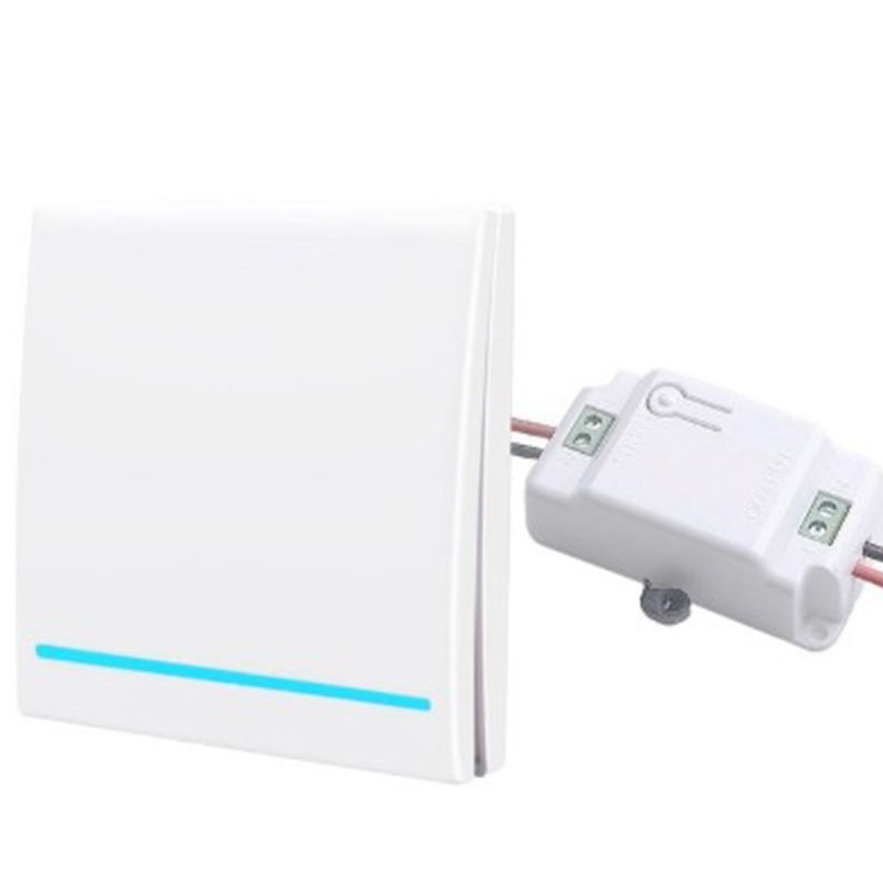 Wireless Remote Control Switch Free Stickers Smart 86 Type Free Wiring 433Mhz Wall Lamp