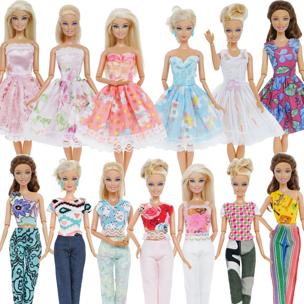 d8c6d08af6cd91 Fashion Handmade Daily Casual Wear Mixed Style Dress Skirt Blouse Trousers  Accessories Dress Clothes For Barbie Doll Clothes Toy-in Dolls Accessories  from ...