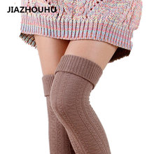 100% Cotton Warm Female Long Socks Cute Autumn Winter Over Knee High Socks Sexy Woman Thigh High Compression Women's Stockings