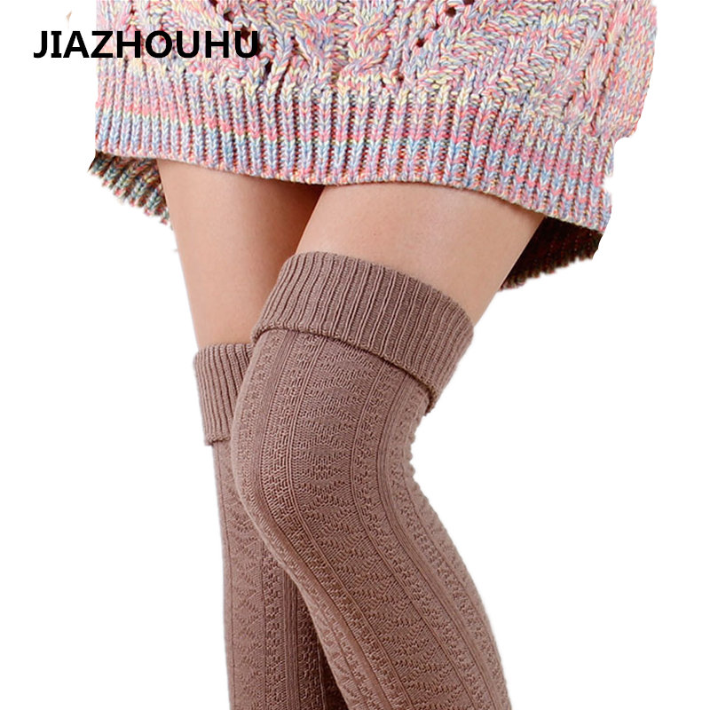 100% Cotton Warm Female Long <font><b>Socks</b></font> <font><b>Cute</b></font> Autumn Winter Over Knee High <font><b>Socks</b></font> <font><b>Sexy</b></font> Woman Thigh High Compression Women's Stockings image