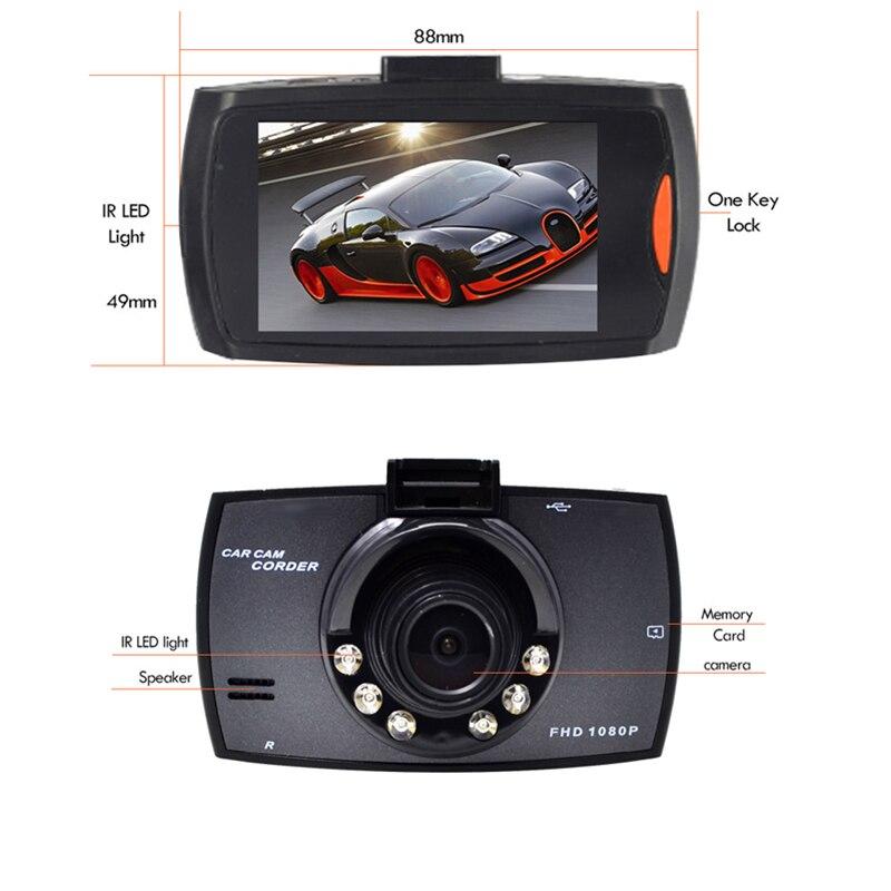 Volle HD 1080 P Auto DVR 2,7 Inch IPS Bildschirm Auto Kamera Dual Objektiv Dash Cam Video Recorder Nachtsicht g-sensor Registrator