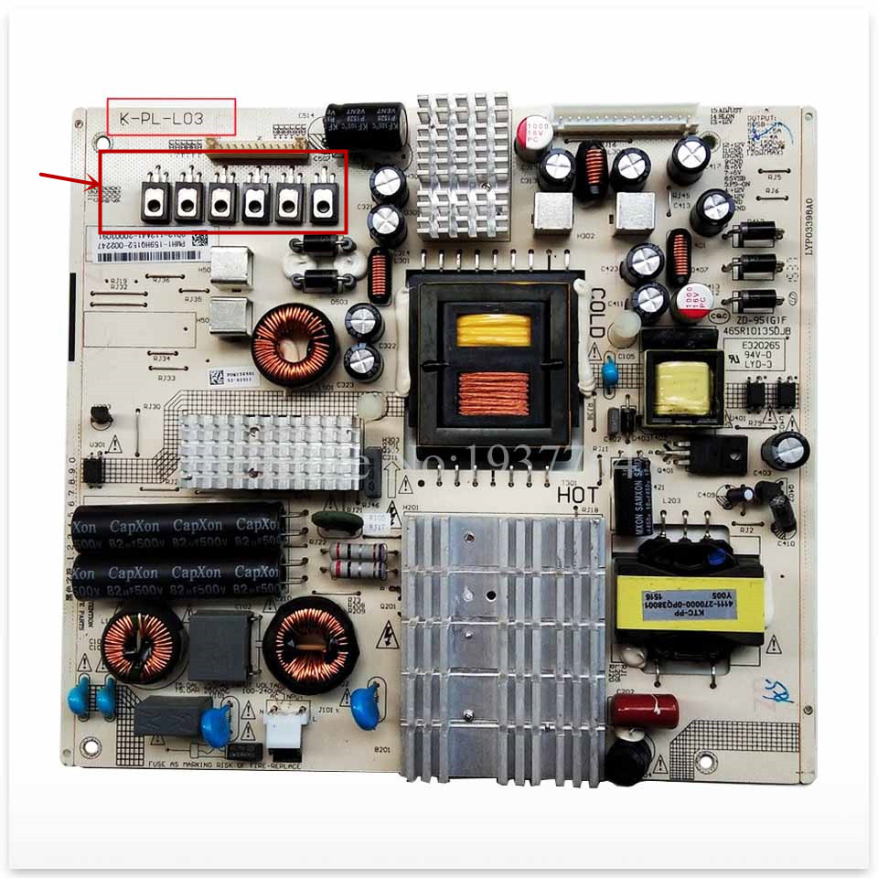 Carte d'alimentation d'origine 49PUF6055 LE49D88 4702-2PLL03-A3131D01 K-PL-L03 465R1029