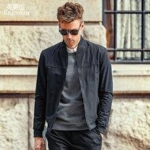Enjeolon brand spring Bomber jackets coat men concise black solid Men jacket coats stand collar 3XL clothes JK632