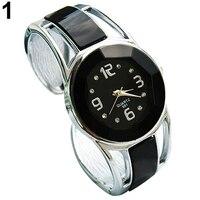 Hot Fashion Women's Fashion Open Alloy Band Quartz Analog Round Dial Bracelet Wrist Watch