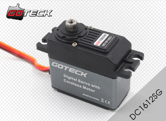 Goteck DC1612S Digital Metal Gear DC1612 53g 12 High Torque Coreless Servo for RC Car Model/ Fixed-wing Aircraft/Airplane image