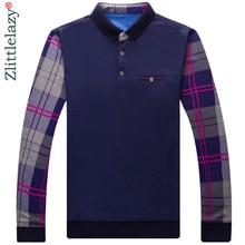 d61cd220c5 2018 pop marcas de manga comprida patchwork camisa pólo homens slim fit  roupas streetwear camisas polos