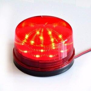 Wired Strobe Sirene 12 V 24 V 220 V Signaal Waarschuwingslampje Flash Sirene LED Lamp Hoogtepunt Alarm Lamp voor alarmsystemen Beveiliging Thuis(China)