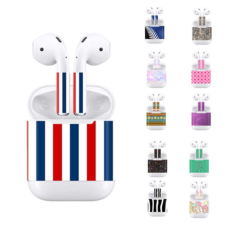 Newest Skin Sticker For Apple AirPods Skins Full Body Protective Decal Sticker Colorful Scratch Proof Films Earphone Accessories