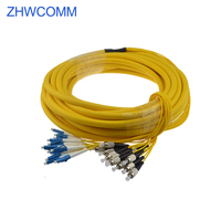 ZHWCOMM LC FC 12 core branch fiber optic patch cord FTTH Fiber optic Indoor Cable